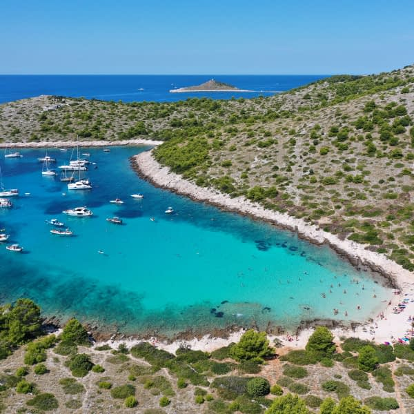 Archipelago Tours Croatia Sibenik boat tour - Kornati National Park Lojena photo from the air