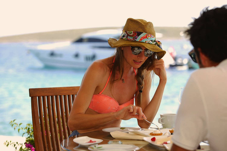 Archipelago Tours Custom Made Tours Exclusive Charter photo of a women eating desert