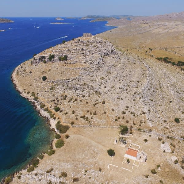 Archipelago Tours Croatia Sibenik boat tour - Kornati National Park Tarac photo taken from the air