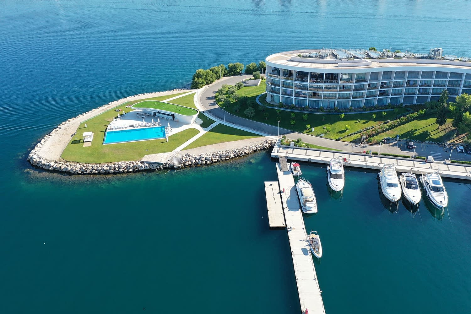 Archipelago Tours boat tour from Sibenik - Kornati Experience Group Full Day Tour photo of pick up point in D-resort taken from air