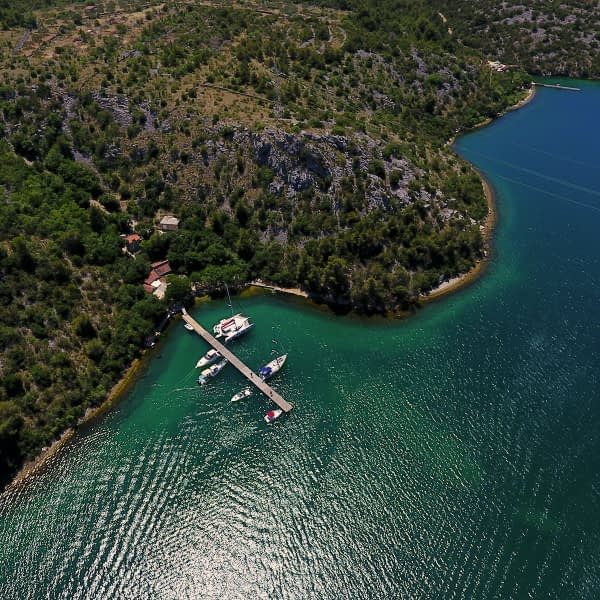 Archipelago Tours Croatia Sibenik boat tour - Vidrovača photo taken from the air