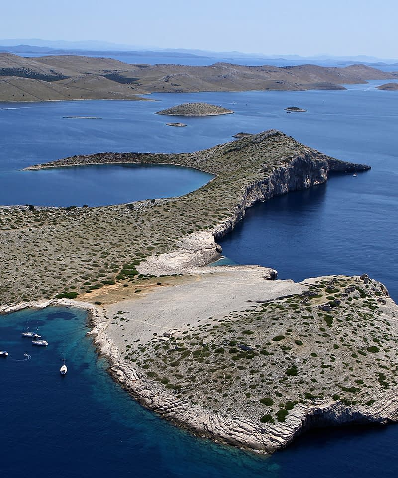 Archipelago Tours Croatia Sibenik boat tour - Kornati National Park Mana photo taken from the air