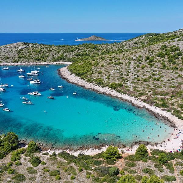 Archipelago Tours Croatia Sibenik boat tour - Kornati National Park Lojena photo from the air
