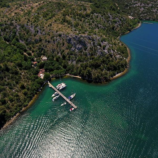 Archipelago Tours Croatia Sibenik boat tour - Vidrovača photo taken from the air