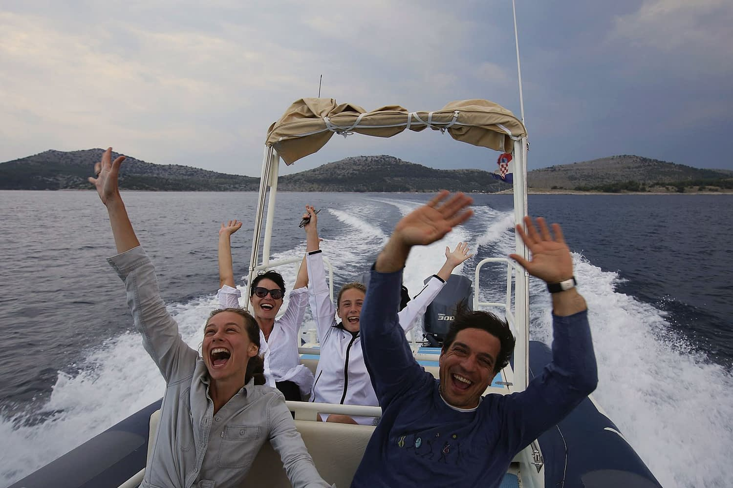 Archipelago Tours Kornati private tour - Kornati Experience Private Boat Tour photo of tourists on the boat