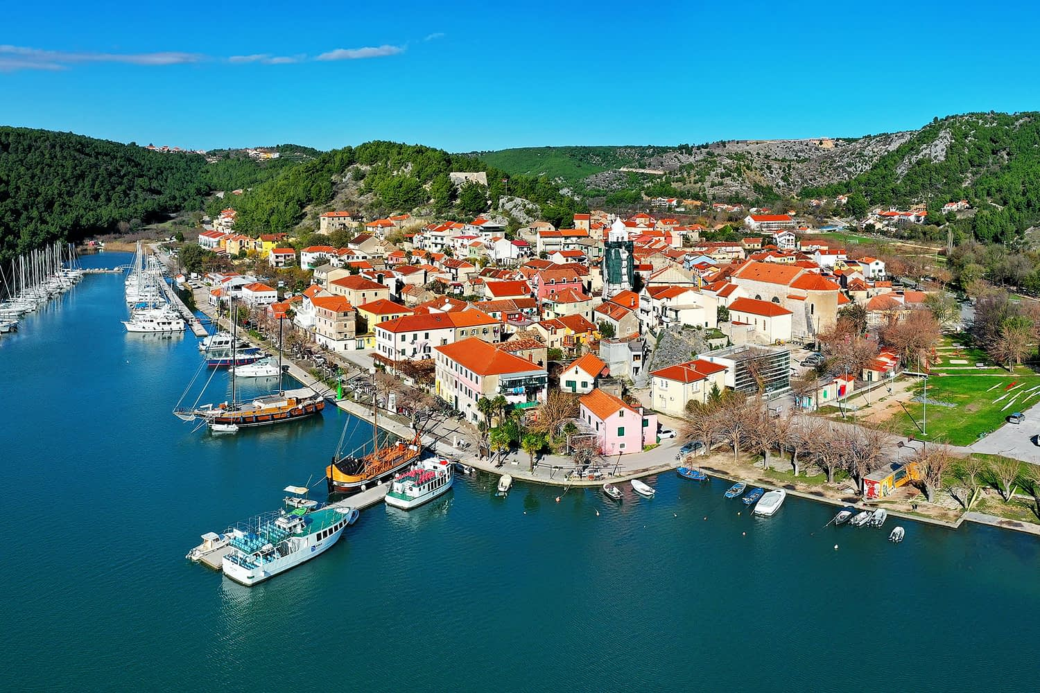 Archipelago Tours - Krka Experience Private Tour photo of Skradin taken from the air